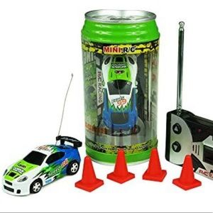 New RC Car In a Can Mini Racer Blue & Green